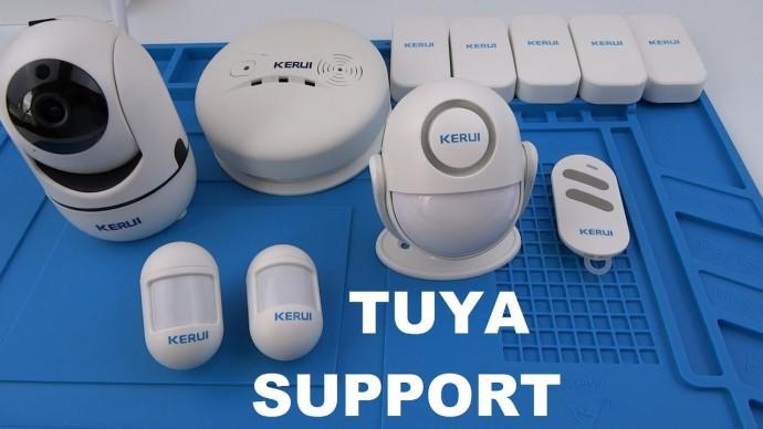 Охранная сигнализация KERUI для умного дома Tuya smart wifi камера, датчики открытия, дви