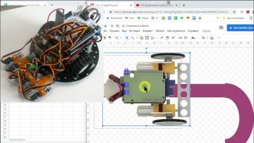 ПЛК: FLProg. П-регулятор для мобильного робота. - видео